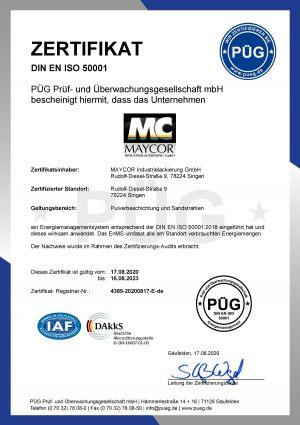 50001-Zertifikat-2020